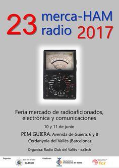 """CAMBIO DE UBICACIÓN: La edición número 23 de merca-HAM se celebrará los días 10 y 11 de junio de 2017 en las instalaciones del """"Parc Esportiu Municipal Guiera"""", en la Avenida de Guiera,…"""