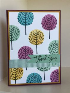 Totally Trees stamp set from the new Autumn-Winter catalogue, great for pattern building - created by Julia Jordan