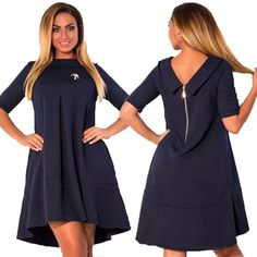 6XL Plus Size  Evening Party Dress Half Sleeve Women Clothing Autumn Female Sexy Collar Short Mini Dresses Loose