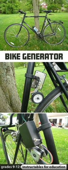 Steps to make a generator for a bicycle. #education #bikelife