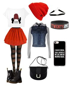 """""""Twenty One Pilots Concert"""" by janerisgaard on Polyvore featuring !M?ERFECT, Dr. Martens, A.P.C., Echo and Casetify"""