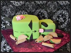 Invader Zim Cake  ~ http://www.facebook.com/pages/FROSTING-Cakes-Cookies/292593026792