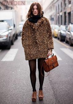 need: fur/leopard coat.