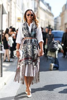 80 French Style Lessons To Learn Now #refinery29  http://www.refinery29.com/2014/10/75565/paris-street-style-photos-fashion-week-2014#slide-21  Don't: Forget that simple pieces — like shirt dresses — can be pumped up, too.