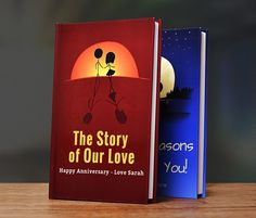 LoveBook is the most unique Personalized Anniversary Gift you could ever give to someone you love.  Create your own personalized book of reasons why you love someone.  LoveBook is the perfect Paper Anniversary Gift!