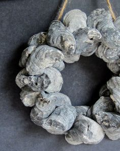 A Good Home: A DIY Mini Oyster Shell Wreath
