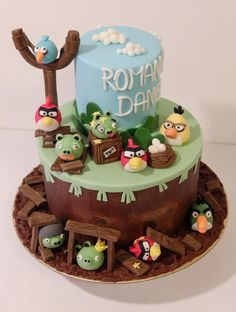 Angry Birds - Cake by Janka