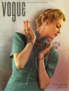 Vogue June 1936 - photo by Edward Steichen    Helen Bennet wearing a dress by Jessie Franklin Turner / Conde Nast Archive  via myvintagevogue on Flickr