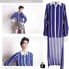 Camisas de rayas disponibles en www.tiendafucsia.co