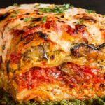 Voluptuous Roasted Vegetable Vegan Lasagna With Puttanesca Sauce Roasted Vegetable Lasagna, Roasted Vegetables, Veggie Lasagna, Veggies, Veggie Food, Vegetable Recipes, Vegan Foods, Vegan Vegetarian, Vegetarian Recipes