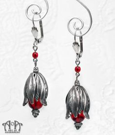 Sanguina Rococo Tulip Dangle Earrings - Art of Adornment dcca38704d2d