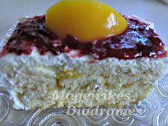 Γλυκό με σαβαγιάρ και φρουτένια κρέμα
