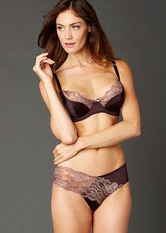 Women in sexy silk bras and panties