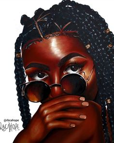 Artist: @rbcahope Black Love Art, Black Girl Art, Black Is Beautiful, Black Girl Magic, Art Girl, Black Girls, Natural Hair Art, Pelo Natural, African American Art