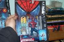 A Spider-man toy with Lampost Swinging Action Toy Biz Marvel old Sealed. Tight.