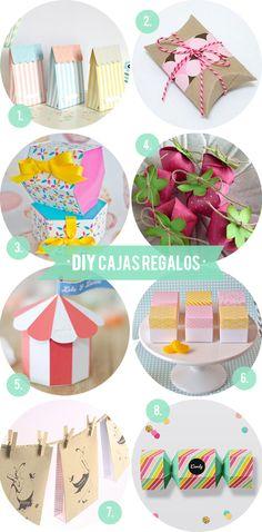 Diy de cajitas de regalo para rellenar de caramelos u otros detalles para celebraciones de todo tipo: comuniones, bodas, cumpleaños...