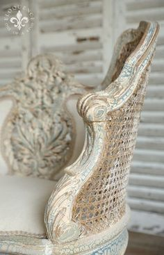 Loving fabricated french country shabby chic home click this over here now French Furniture, Shabby Chic Furniture, Painted Furniture, Coastal Furniture, Painted Wicker, Distressed Furniture, Design Furniture, French Decor, French Country Decorating