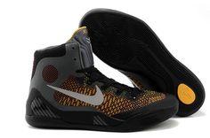 low priced 373ab beb4f Mens   Womens Nike Zoom Kobe IX Kobe 9 Original Basketball Shoes Black  Yellow Grey Nike