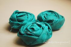 how--to guide to make your own fabric roses...perfect accents for memo boards, picture frames, wreaths...
