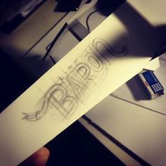 Little Baron handmade typography is being made on a toy plane i did for my little daughter Mary.  ...loading...made by Soyski  #handmade #lettering #for #little #baron #flying #fortress #aeroplane #plane #typography #calligraffiti #calligraphy #Soyski