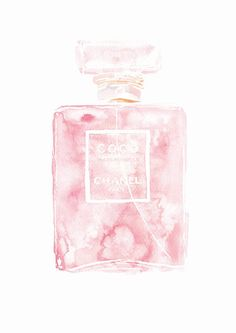 Items similar to Coco Mademoiselle Chanel Perfume Paris Pink Watercolour Painting on Etsy Watercolor Fashion, Pink Watercolor, Watercolour Paintings, Fashion Painting, Motivational Wall Art, Inspirational Wall Art, Mademoiselle Coco Chanel, Perfume Chanel, Chanel Wall Art