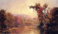 Par le fleuve de Jasper Francis Cropsey (1823-1900, United States)