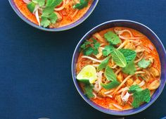 This tangy, savory chicken laksa is the quintessential comfort food for many Southeast Asians.