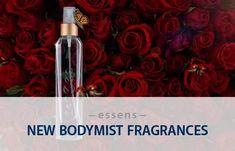 Nechte se pohltit tělovými spreji ESSENS Body Mist, které vás osvěží, nabudí vaše smysly a jemně provoní celou pokožku. ESSENS Body Mist obsahují 3 % vonných esencí a vznikají za použití stejného výrobního postupu jako ESSENS Perfume. Tím je dosaženo dokonalého propojení éterických olejů s ostatními složkami.  #bodymist #essens #love #essensperfume #essensbodymist #spray #bodyspray #perfume #perfumed #fragrances #vune #essensostrava #osvezeni #essensclub #fragranced #smell #scented #telovyspray Body Mist, Body Spray, Mists, Fragrance, Perfume