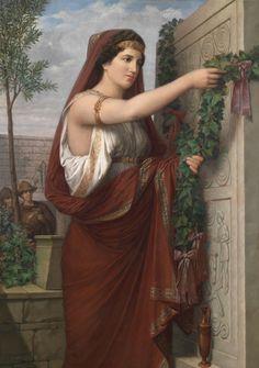 Vestal with Ivy garland (Vestalin mit Efeugirlande) -  Carl Friedrich Deckler