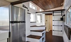Storage Stairs - Custom House by Mint Tiny Homes