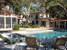 Stunning Beach Side Estate with 6 BR/7.5 Ba in Prime Sea Island Locale