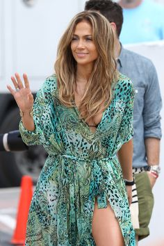 Jennifer Lopez Films a Music Video on Fort Lauderdale Beach, May 2013.