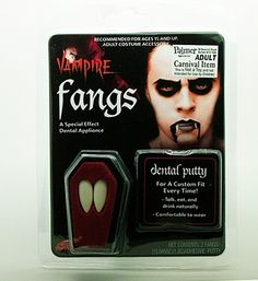 """Vampire Fangs - with """"Hot Melt"""" adhesive : Free Shipping & Low Prices at MagicNevin"""