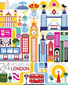 24 hours in London - poster from Fernando Volken Togni  This belongs in my room!