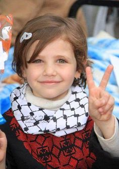 Cute Palestinian girl ... Palestinian's want peace, it is their right ... kd