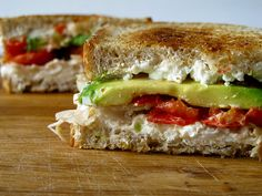 Goat cheese and avocado grilled cheese