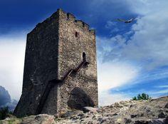 Vrsac Tower in Vojvodina, Serbia