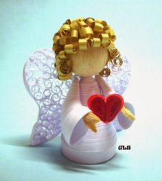 Paper Quilled 3-D Angel / Ангелы. Квиллинг