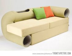The perfect sofa for your cat… I need to find a way to make this!! Kinda funky - but interesting!