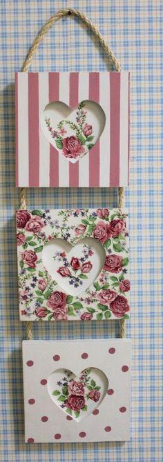 Estos cuadritos los encuentro ideales para alegrar a alguien, con un toque delicado.... Absolutamente femenino... | Decoupage | Pinterest | DIY and crafts, Cha…