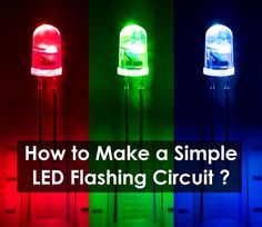 LED Flashing / Blinking Circuit using 555 Timer IC. Circuit Diagram of Flash Lamp Using 555 Timer IC. What is Flash Lamp? Components Required For LED Circuit Steps to Make a Simple LED Flashing Circuit.Working of Blinking LED Light Circuit Physics Projects, Led Projects, Electronic Schematics, Electronic Parts, Simple Circuit, Block Diagram, Light Emitting Diode, Circuit Diagram, Homemade Tools