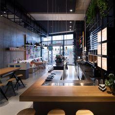 Interieur design door Piet Hein Eek, coffee company Amsterdam