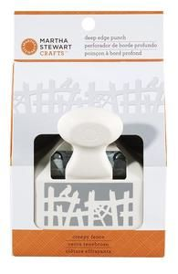 *Martha Stewart CREEPY FENCE Deep Edge Punch 42-70044 New 2012