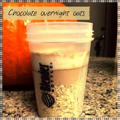 Chocolate PB overnight oats