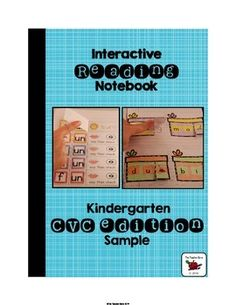 CVC Word Family Interactive Notebook: This Interactive Notebook Freebie has been designed for kindergarten students to support blending and segmenting onsets and rimes of CVC words {RF.K.2c} and isolating and pronouncing the initial, medial vowel, and final sounds in CVC words {RF.K.2d}.