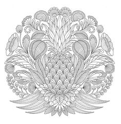 """Мандала раскраска 