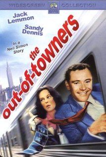 The Out of Towners -- Up for a promotion, George Kellerman is being flown to New York City with his wife Gwen - all expenses paid - for an interview with the top brass. They plan to arrive the night before to enjoy dinner and a show but the plane gets diverted to Boston. George's carefully planned dream trip turns into a nightmare which features, among other misadventures, a hellish train ride to New York, a mugging, a police chase and a broken tooth.
