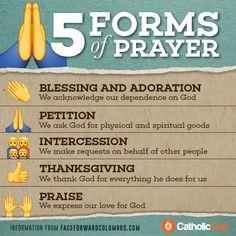 """@catholink: 5 forms of prayer """