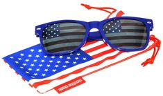 a0e27f8ec83f Classic American Patriot Sunglasses USA American Flag Lens Blue Frame OWL   fashion  clothing  shoes  accessories  mensaccessories ...