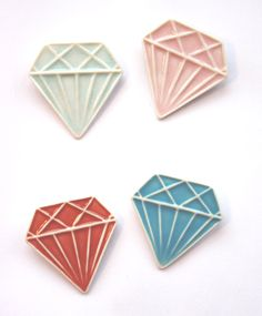 Porcelain Jewel Brooches by Made By Mememe